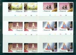 Montserrat 1985 Xmas IMPERF Cyl. Imprint Blks 4 MUH Lot68703 - Montserrat