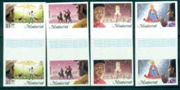 Montserrat 1985 Xmas IMPERF Gutter Pairs MUH Lot68704 - Montserrat