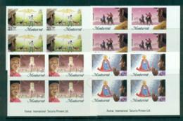Montserrat 1985 Xmas IMPERF Imprint Blks 4 MUH Lot68705 - Montserrat