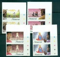 Montserrat 1985 Xmas IMPERF Pairs MUH Lot68582 - Montserrat