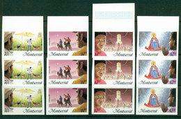 Montserrat 1985 Xmas IMPERF Strip 3 MUH Lot21227 - Montserrat