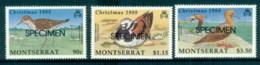 Montserrat 1988 Xmas, Birds SPECIMEN MUH - Montserrat
