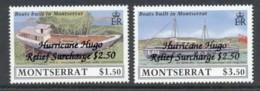 Montserrat 1989 Hurricane Hugo Relief Opt MUH - Montserrat