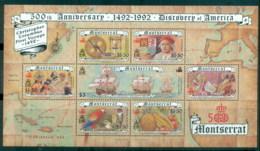 Montserrat 1992 Discovery Of America 500th Anniv, Columbus MS MUH - Montserrat