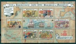 Montserrat 1992 Discovery Of America 500th Anniv, Columbus, Added Text MS MUH - Montserrat