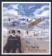 Montserrat 2003 Powered Flight Cent., Wright Bros MS MUH - Montserrat