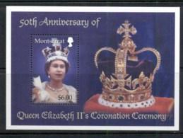 Montserrat 2003 QEII Coronation 50th Anniv. MS MUH - Montserrat