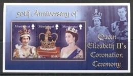Montserrat 2003 QEII Coronation 50th Anniv. Sheetlet MUH - Montserrat