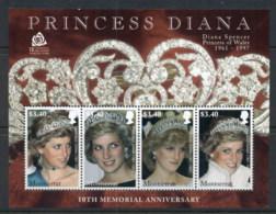 Montserrat 2007 Princess Diana In Memoriam 10th Anniv. MS MUH - Montserrat