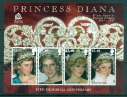Montserrat 2007 Princess Diana In Memoriam, 10th Anniv. MS MUH - Montserrat