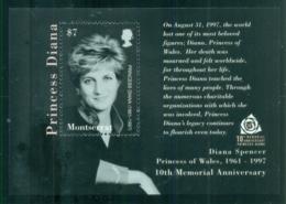 Montserrat 2007 Princess Diana In Memoriam, 10th Anniv., Princess Of Wales MS MUH - Montserrat
