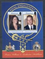 Montserrat 2011 Royal Engagement William & Kate $3 MS MUH - Montserrat