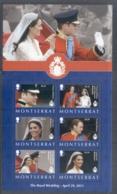 Montserrat 2011 Royal Wedding William & Kate $2.25 MS MUH - Montserrat
