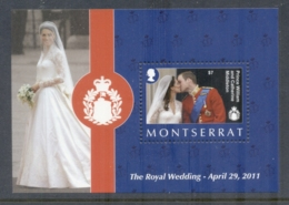 Montserrat 2011 Royal Wedding William & Kate $7 MS MUH - Montserrat