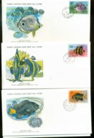 St Lucia 1978 WWF,Marine Life, Fish ,Franlkin Mint (with Inserts) 3xFDC Lot79623 - St.Lucia (1979-...)