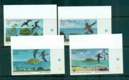 St Lucia 1985 Nature Reserves, Birds In Habitats IMPERF MUH Lot68640 - St.Lucia (1979-...)
