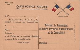 Rare Carte Postale Correspondance Militaire Franchise Militaire Drapeaux - 1914-18