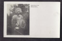CPA ETHIOPIE - ABYSSINIE - Abyssinie : Guerrier Abyssin - TB PLAN Homme En Costume Et Arme - Libellé Allemand Anglais - Ethiopia