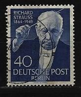 BERLIN - Mi-Nr. 124 - 5. Todestag Von Richard Strauss Gestempelt (4) - Berlin (West)