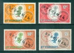 St Vincent 1979 Post Offices Maps 4v. SPECIMEN MLH - St.Vincent (1979-...)