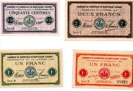 CHAMBRE DE COMMERCE DE MONTLUCON - GANNAT    - 4 Billets - 1871-1952 Antichi Franchi Circolanti Nel XX Secolo