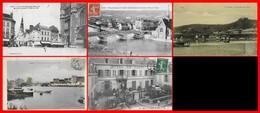 5 CPA (89) SENS. Place De La République / Vue Panoramique / Le Barrage / La Fausse Rivière / L'hôtel De Paris...H843 - Sens