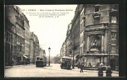 CPA Paris, Rue Linne Et Fontaine Cuvier, Vue De La Rue Mimt Tramway - Unclassified