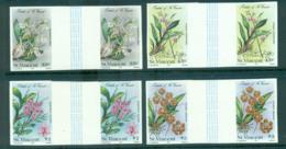 St Vincent 1985 Orchids, Flowers IMPERF Pairs MUH Lot68543 - St.Vincent (1979-...)