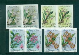St Vincent 1985 Orchids, Flowers IMPERF Pairs MUH Lot68546 - St.Vincent (1979-...)