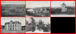 5 CPA (89) SENS. Vue Générale / Vue Panoramique / Eglise St-Martin / Moulin Du Roy / La Caisse D'épaegne...H844 - Sens