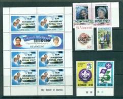 St Vincent 1985 Royal Visit Opts MUH Lot72828 - St.Vincent (1979-...)