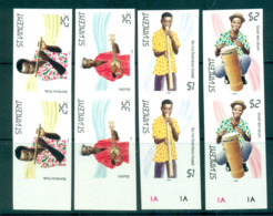 St Vincent 1985 Traditional Instruments IMPERF Pairs MUH Lot68724 - St.Vincent (1979-...)