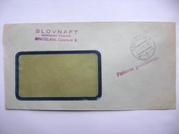 Czechoslovakia Cover 1952 - Postage Prepaid - Bratislava SLOVNAFT Narodny Podnik - Czechoslovakia