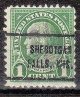 USA Precancel Vorausentwertung Preo, Locals Wisconsin, Sheboygan Falls 632-714 - Vorausentwertungen