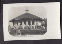 CPA ETHIOPIE - ABYSSINIE - GENNET - L'Eglise De Gennet - TB PLAN ANIMATION Devant Edifice Religieux - Etiopia