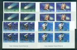 St Vincent 1986 Halley's Comet IMPERF Imprint Blks 4 MUH Lot68749 - St.Vincent (1979-...)