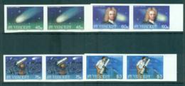 St Vincent 1986 Halley's Comet IMPERF Pairs MUH Lot68750 - St.Vincent (1979-...)