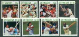 St Vincent 1988 Cricket Players MUH - St.Vincent (1979-...)