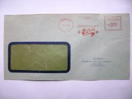 Czechoslovakia Cover 1952 Meter Stamp Freistempel Frankotyp - Chocolat ZORA Olomouc - Czechoslovakia