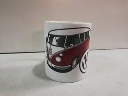 TASSE Ceramique MUG COFFEE NOEL VOLKSWAGEN COMBI TRANSPORTER SPLIT WINDOW T1 VW - Cars