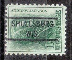 USA Precancel Vorausentwertung Preo, Locals Wisconsin, Shullsburg 821 - Vorausentwertungen