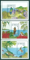 St Vincent 1992 Hummingbirds 3x MS MUH - St.Vincent (1979-...)
