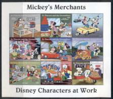 St Vincent 1996 Disney Characters, Mickey's Merchants Sheetlet MUH - St.Vincent (1979-...)