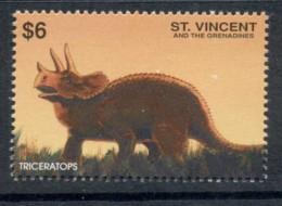 St Vincent 1999 Prehistoric Animals, Dinosaurs $6 MUH - St.Vincent (1979-...)