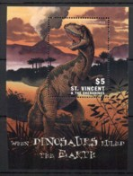 St Vincent 1999 Prehistoric Animals, Dinosaurs MS MUH - St.Vincent (1979-...)