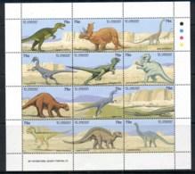 St Vincent 1999 Prehistoric Animals, Dinosaurs Sheetlet MUH - St.Vincent (1979-...)