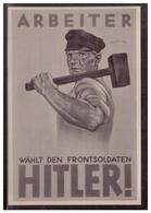 DT- Reich (005821) Propaganda Sammelbild Deutschland Erwacht Bild 102, Wahlplakat Der NSDAP - Deutschland