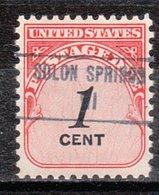 USA Precancel Vorausentwertung Preo, Locals Wisconsin, Solon Springs 853 - Vereinigte Staaten