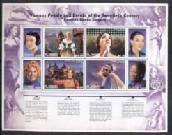 St Vincent 2010 Famous Opera Singers, Female Sheetlet MUH - St.Vincent (1979-...)