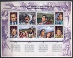 St Vincent 2010 Famous Opera Singers, Male Sheetlet MUH - St.Vincent (1979-...)